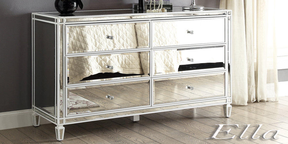 Ella mirrored furniture