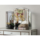 ROCHELLE Mirror Tri-Fold Mirror - Antique Silver Frame