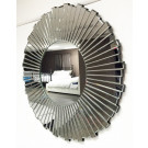 Wall Mirror Multi Facet with large round section