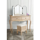 ONTARIO Solid Oak Dressing Table In Lime Wire Weathered Finish