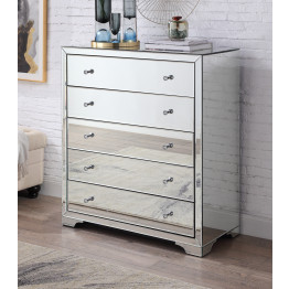 Boulevard SILVER Mirror Tallboy 5 drawers