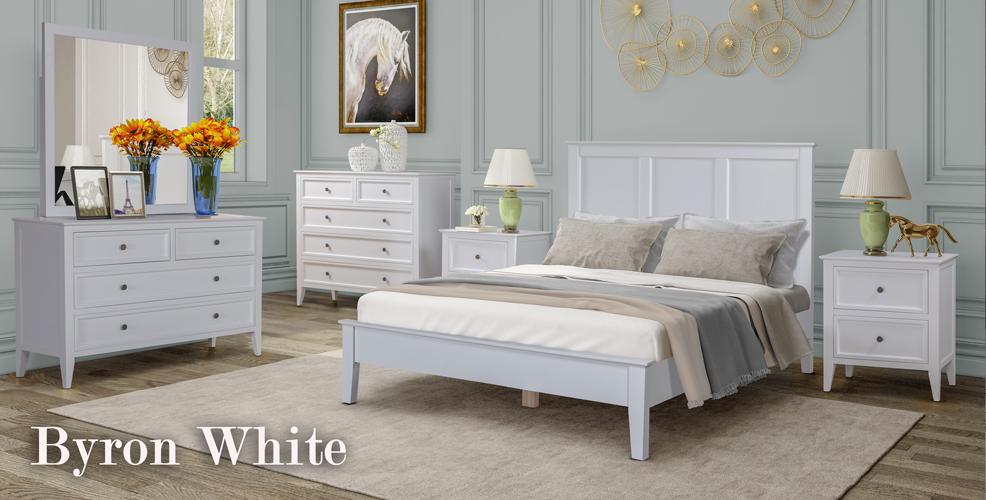 Byron White Bedroom Range
