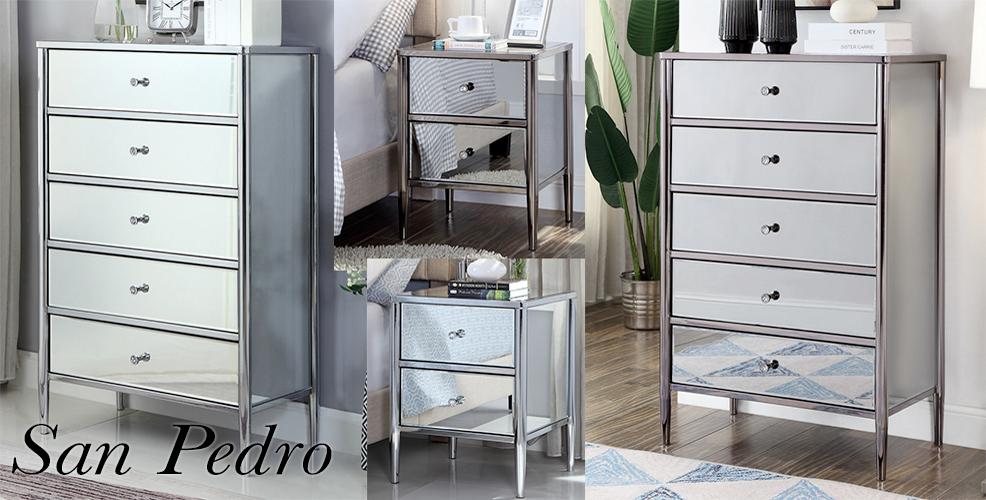 San Pedro Mirrored bedroom Furniture