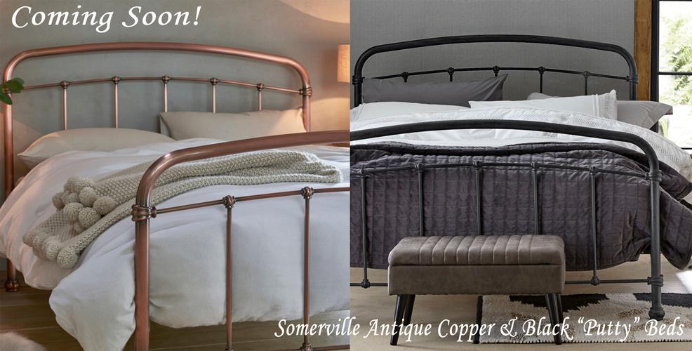 Somerville Antique Copper & Black Plated beds