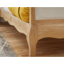 BORNEO RATTAN Solid Oak QUEEN Bed In Lime Wire Brushed Weathered Finish