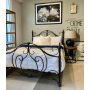 BOGART Queen Size Cast and Wrought Iron Bed