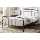 SOMERVILLE Queen Putty Black/Grey Distressed Effect Plated bed