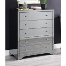 Boulevard SMOKE Mirror Tallboy 5 drawers