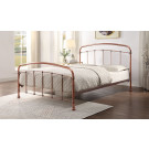 SOMERVILLE Queen Antique Distressed Copper Effect Plated bed
