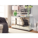 BOULEVARD Silver Mirror Dressing Table or Low Chest 6 Drawers