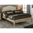 FABIAN King European White Ash & Upholstered Bed