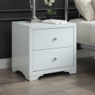 BOULEVARD White Glass Bedside Table