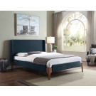 LIANA Queen Upholstered Bed - Marine Blue