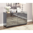BOULEVARD SMOKE Mirror Dressing Table or Low Chest 6 Drawers