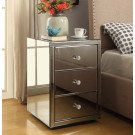 VENICE Mirrored 3 Drawer Bedside Table