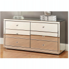 VENICE Silver Mirror Dressing Table or Low Chest 6 Drawers