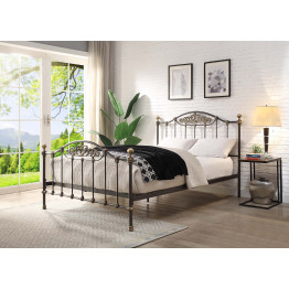 WENTWORTH QUEEN Size Cast and Wrought Iron Bed