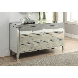 Mason silver mirror low chest