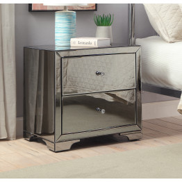 Boulevard SMOKE Mirror Bedside Table