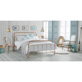 MADRID King Copper & Brass Plated bed